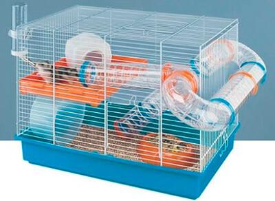 Клетка с обязательными аксессуарами для джунгарика