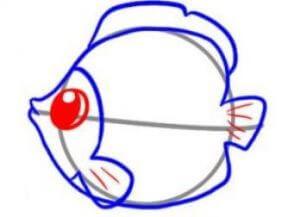 как нарисовать красивую рыбку