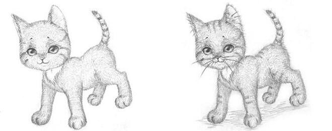 мастер-класс по рисованию котенка