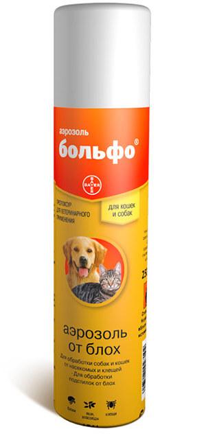 Спрей от блох и клещей для собак Больфо от Байер