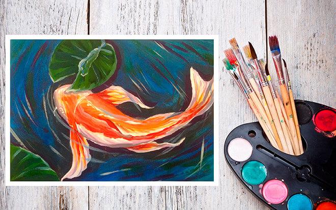 Рисовать рыбу поэтапно